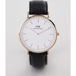 Classic Sheffield - Montre en cuir 40 mm - Or rose - Daniel Wellington - Shopsquare