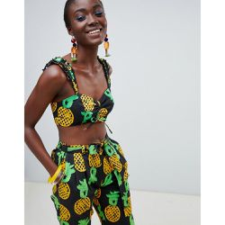 Kenya x Julie Adenuga - Top court à imprimé ananas - ASOS MADE IN - Shopsquare
