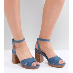 Sandales en jean à talons rainurés - Faith Wide Fit - Shopsquare