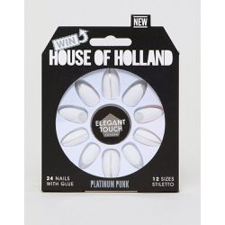 House of Holland x - Faux-ongles style punk - Platine - Elegant Touch - Shopsquare