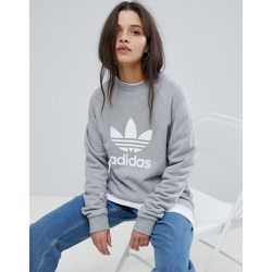 Sweat-shirt ras du cou avec logo trèfle - - adidas Originals - Shopsquare
