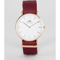 Roselyn - Montre avec bracelet en toile 36 mm - Or rose - Daniel Wellington - Shopsquare