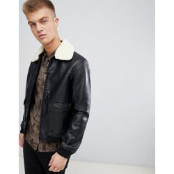 Bomber en similicuir avec col en fausse fourrure - Another Influence - Shopsquare