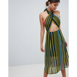 Robe mi-longue dos nu à rayures - Missguided - Shopsquare