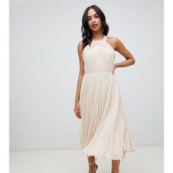 79893ac5e51 Robe mi-longue dos-nu à corsage plissé - ASOS DESIGN - Shopsquare