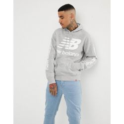 Hoodie à enfiler avec grand logo - - New Balance - Shopsquare
