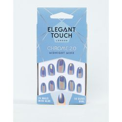 Chrome Collection 2.0 - Faux ongles amande - Midnight Minx - Elegant Touch - Shopsquare