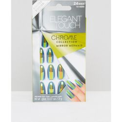 Faux-ongles chromés en forme de stylet - Mirror Mermaid - Elegant Touch - Shopsquare