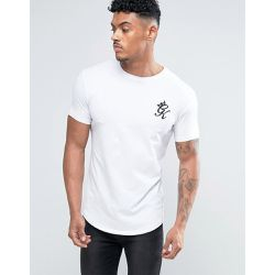 T-shirt moulant avec logo - Blanc - Gym King - Shopsquare