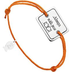Bracelet cordon et argent 925, Always with you, , 4.5g - CLIO BLUE - Shopsquare