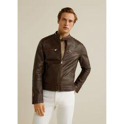 02089f432ce83 Blouson biker zips - mango man - Shopsquare