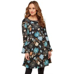 Robe fleurie en jersey manches 3/4 - Joe Browns - Shopsquare