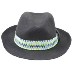 Chapeau Fedora feutre ruban Lagoon - PANAMES AND CO - Shopsquare