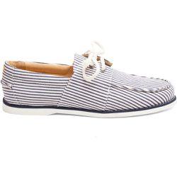723d8533512 Chaussures bateau en Coton Marin - M. MOUSTACHE - Shopsquare