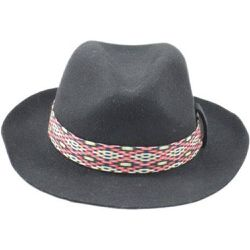 Chapeau Fedora feutre ruban Graphic - PANAMES AND CO - Shopsquare