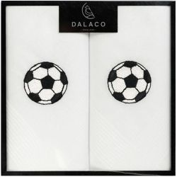 Set de 2 mouchoirs brodés. Football - CRAVATE AVENUE SIGNATURE - Shopsquare