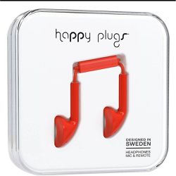 Ecouteurs avec micro Earbud Red - Happy Plugs - Shopsquare