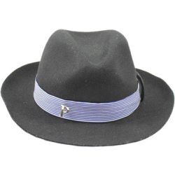 Chapeau Fedora feutre ruban Skyline - PANAMES AND CO - Shopsquare