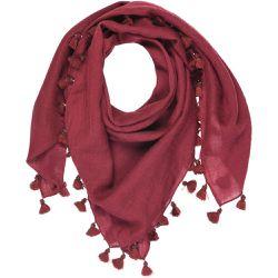 61f42b26f9f2 Foulard uni avec pompon et perles 100% laine - TIE RACK - Shopsquare