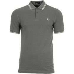 "Polo Twin Tipped Shirt ""Mid Grey"" - Fred Perry - Shopsquare"