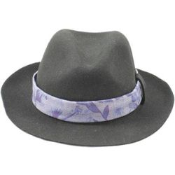 Chapeau Fedora feutre ruban Cow girl - PANAMES AND CO - Shopsquare