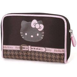 Portefeuille Hello Kitty chocolat pied de poule by - CAMOMILLA - Shopsquare