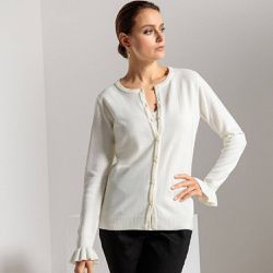 Cardigan col rond, toucher cachemire - Anne weyburn - Shopsquare