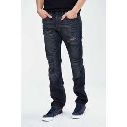 Jeans Distortion Tapered Bleu Fonce  - Firetrap - Shopsquare