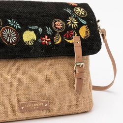 aca270547d Sac cartable Capri n jute - lollipops - Shopsquare