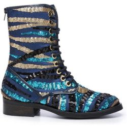 Bottines style rangers en sequins - CUPLE - Shopsquare