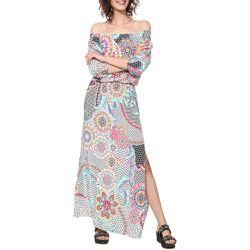 Robe Dera imprimé graphique, longue - Desigual - Shopsquare