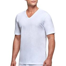 T-shirt homewear col V en coton Essentials - IMPETUS - Shopsquare