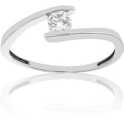 Bague Or 375/1000 Oxyde de Zirconium - CLEOR - Shopsquare