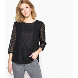Blouse plumetis, manches 3/4 - Anne weyburn - Shopsquare