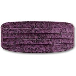 Ceinture de Smoking Rose purple, roses violettes - ROBERT CHARLES - Shopsquare