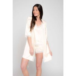Kimono satin et dentelle Stella 2 - BODY ONE - Shopsquare