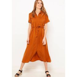 69776be35fc Robe longue saharienne - CAMAIEU - Shopsquare