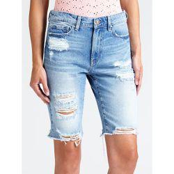 b6de61a2f8 Bermuda Jean Abrasions - Guess - Shopsquare. Guess Bermuda Jean Abrasions  79.9 €. Short Jean Lien Coulissant Taille ...