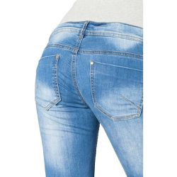 Jean de grossesse, Coupe Slim 5-pocket Pocketzip (34) - MAMA LICIOUS - Shopsquare
