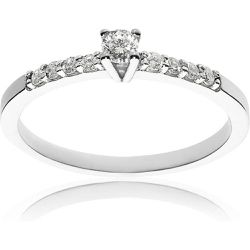 Solitaire Or 375/1000 Diamants 0,08 ct - CLEOR - Shopsquare