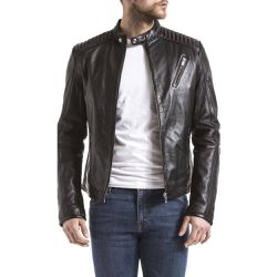 Veste en cuir - BLUE WELLFORD - Shopsquare