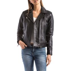 0c14ba1a22d346 Veste en cuir - BLUE WELLFORD - Shopsquare
