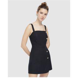 b84d97b9433 Robe salopette boutonnée avec jupeshort - EASY WEAR - Shopsquare