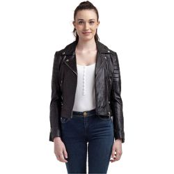 238d7c9b7caa Veste en cuir col tailleur - KAPORAL - Shopsquare