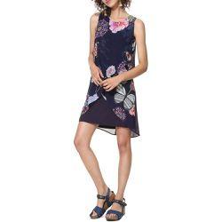 Robe Salma fluide imprimé floral, mi-longue - Desigual - Shopsquare