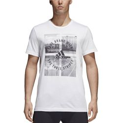 Tee shirt col rond, manches courtes - adidas Performance - Shopsquare