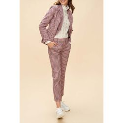 Pantalon tailleur à carreaux - Claudie Pierlot - Shopsquare