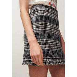 Jupe courte en tweed frangée - Claudie Pierlot - Shopsquare