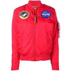 NASA patch detail bomber jacket - alpha industries - Shopsquare