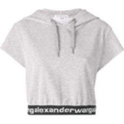 Sweat crop en velours à mancherons - T By Alexander Wang - Shopsquare